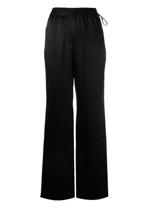 Acne Studios wide-leg satin trousers - Black