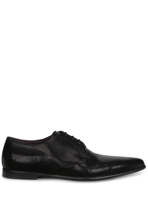 Dolce & Gabbana calf leather pointed Derby shoes - Black