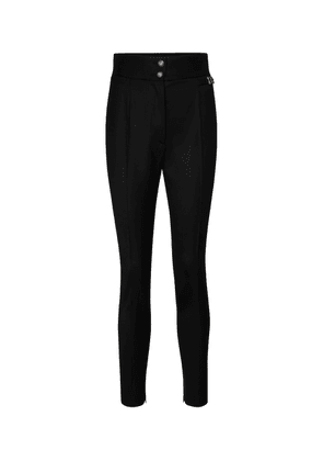 High-rise tapered stretch-wool pants