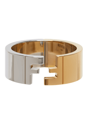 Fendi Silver and Gold Forever Fendi Ring