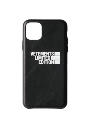 VETEMENTS Black Limited Edition Logo iPhone 11 Pro Max Case