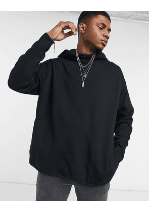 ASOS DESIGN oversized hoodie with square pockets in black