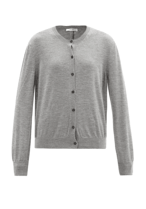 The Row - Battersea Round-neck Cashmere Cardigan - Womens - Grey