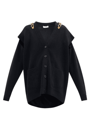 Givenchy - Chain-embellished Wool-blend Cardigan - Womens - Black