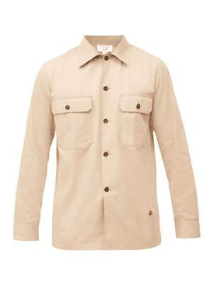 Dunhill - Cotton-twill Overshirt - Mens - Beige
