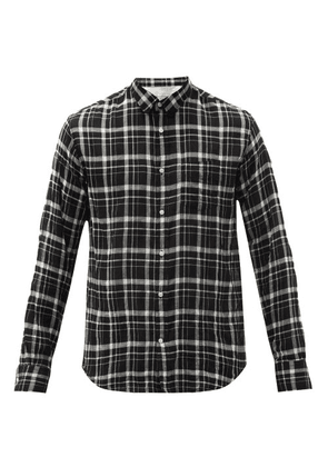 Officine Générale - Lipp Patch-pocket Check Cotton-twill Shirt - Mens - Black Multi