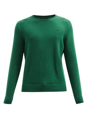 Polo Ralph Lauren - Logo-embroidered Cotton Sweater - Mens - Dark Green
