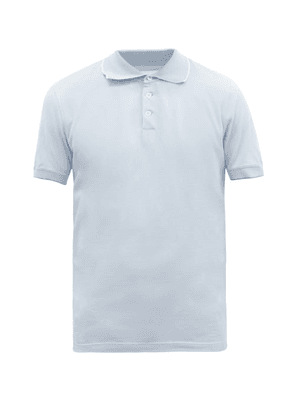 Brunello Cucinelli - Cotton-piqué Polo Shirt - Mens - Light Blue