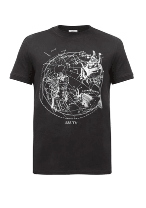 Valentino - Zodiac-print Cotton-jersey T-shirt - Mens - Black