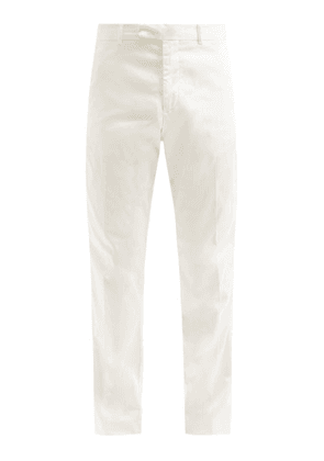 Frescobol Carioca - Tencel-blend Twill Straight-leg Trousers - Mens - Cream
