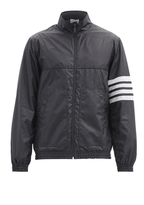 Thom Browne - Four-bar Ripstop Jacket - Mens - Navy