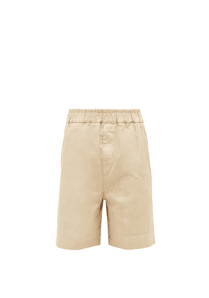 Jil Sander - Elasticated-waist Cotton-gabardine Shorts - Mens - Beige