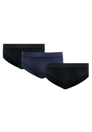CDLP - Pack Of Three Stretch-jersey Briefs - Mens - Black Multi