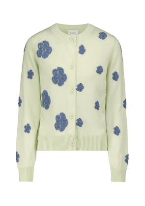 Embroidered cashmere and cotton cardigan