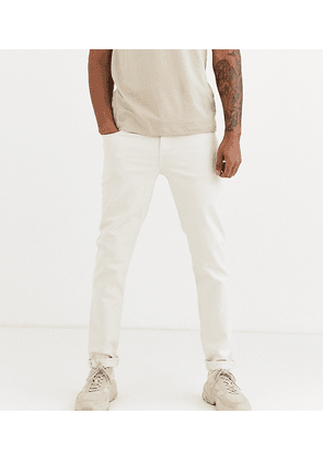 ASOS DESIGN Tall tapered jeans in ecru-White
