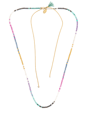 SHASHI Rainbow Necklace in Pink,Yellow.