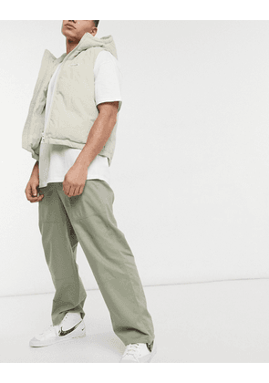 ASOS DESIGN baggy utility trousers-Green