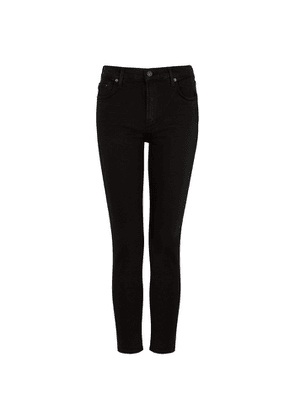 Citizens Of Humanity Rocket Sculpt Black Cropped Skinny Jeans