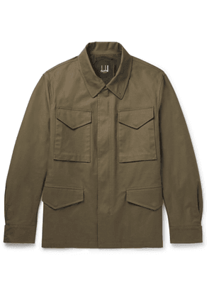 DUNHILL - Cotton-Blend Gabardine Field Jacket - Men - Green