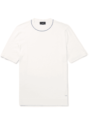 DUNHILL - Contrast-Tipped Cotton T-Shirt - Men - White