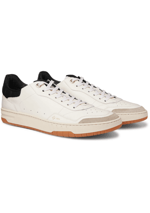 DUNHILL - Court Elite Suede-Trimmed Leather Sneakers - Men - White
