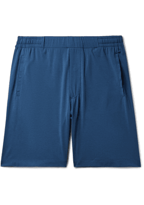 Hamilton and Hare - Stretch-Lyocell and Cotton-Blend Pyjama Shorts - Men - Blue