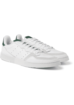 ADIDAS ORIGINALS - Supercourt Suede-Trimmed Leather Sneakers - Men - White