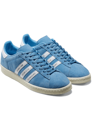 adidas Consortium - Human Made Campus Leather-Trimmed Suede Sneakers - Men - Blue