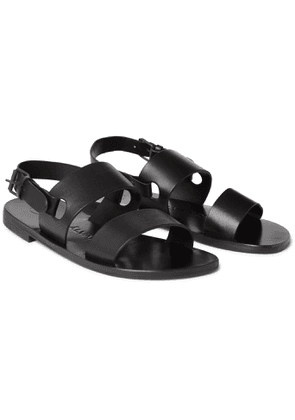 Álvaro - Alexander Leather Sandals - Men - Black
