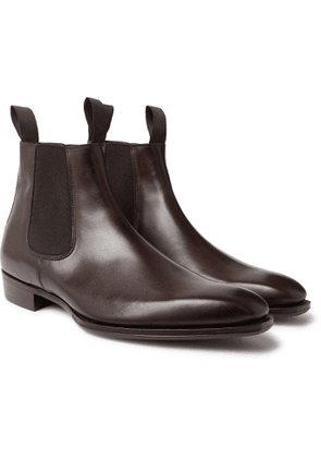 GEORGE CLEVERLEY - Robert Leather Chelsea Boots - Men - Brown - UK 6