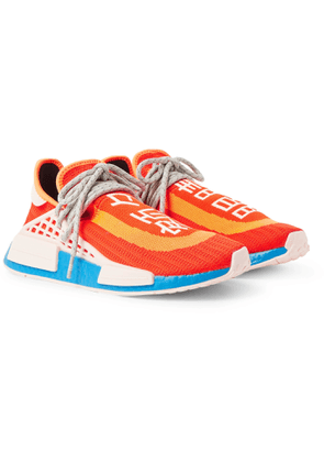 adidas Consortium - Pharrell Williams NMD Hu Leather and Rubber-Trimmed Primeknit Slip-On Sneakers - Men - Orange