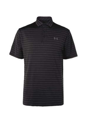 Under Armour - UA Playoff 2.0 Striped Stretch-Jersey Golf Polo Shirt - Men - Black