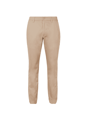 Under Armour - UA Showdown Tapered Stretch Cotton-Blend Golf Trousers - Men - Neutrals