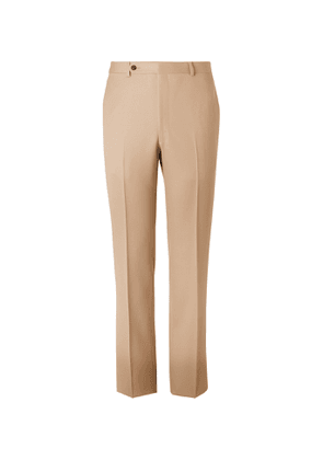 Husbands - Piccoli Worsted-Wool Trousers - Men - Brown