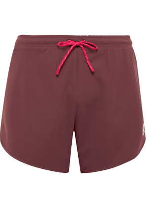 DISTRICT VISION - Spino Slim-Fit Stretch-Shell Shorts - Men - Burgundy