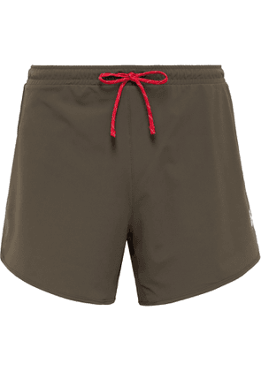 DISTRICT VISION - Spino Slim-Fit Stretch-Shell Shorts - Men - Green