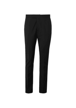 PAUL SMITH - Slim-Fit Satin-Trimmed Wool and Mohair-Blend Tuxedo Trousers - Men - Black