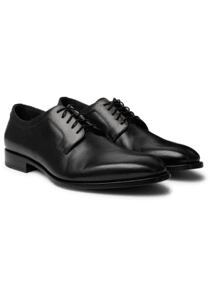 DUNHILL - Leather Derby Shoes - Men - Black