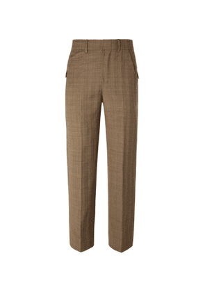 Ader Error - Prince of Wales Checked Wool Suit Trousers - Men - Brown