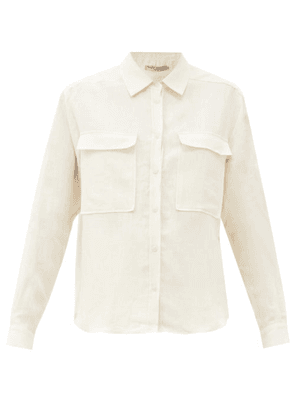 Three Graces London - Willow Chest-pocket Linen Shirt - Womens - Ivory