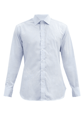 Emma Willis - Bengal Striped Cotton-poplin Shirt - Mens - Light Blue