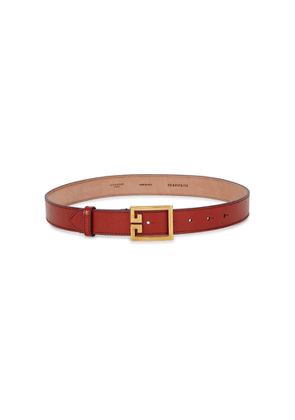 Givenchy Terracotta Grained Leather Belt