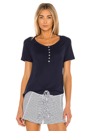 Splendid PJ Tee in Navy. Size XS, S, M.