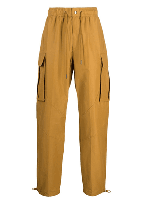 Nike high-rise loose fit straight-leg trousers - Yellow