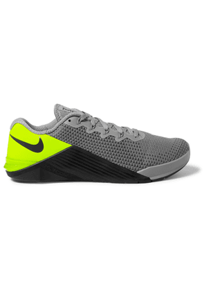 Nike Training - Metcon 5 Rubber-Trimmed Mesh Sneakers - Men - Gray