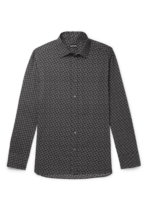 TOM FORD - Paisley-Print Cotton and Lyocell-Blend Shirt - Men - Gray