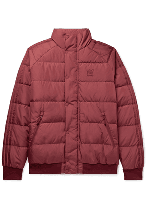 adidas Consortium - Jonah Hill Logo-Embroidered Quilted Ripstop Down Jacket - Men - Burgundy