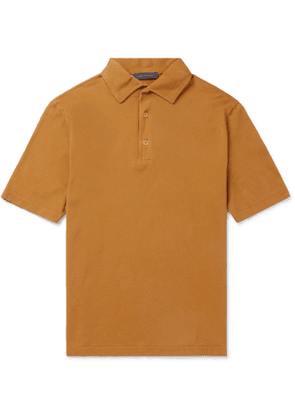 THOM SWEENEY - Garment-Dyed Cotton-Pique Polo Shirt - Men - Yellow
