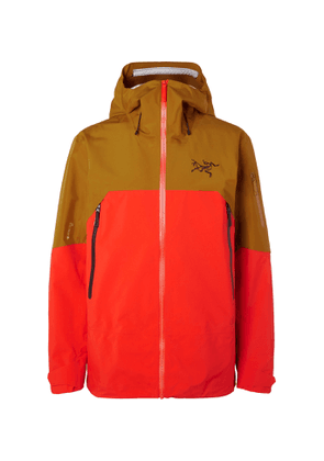 Arc'teryx - Rush Colour-Block Hooded Ski Jacket - Men - Yellow