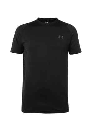 Under Armour - UA Rush HeatGear 2.0 Panelled Stretch-Jersey T-Shirt - Men - Black